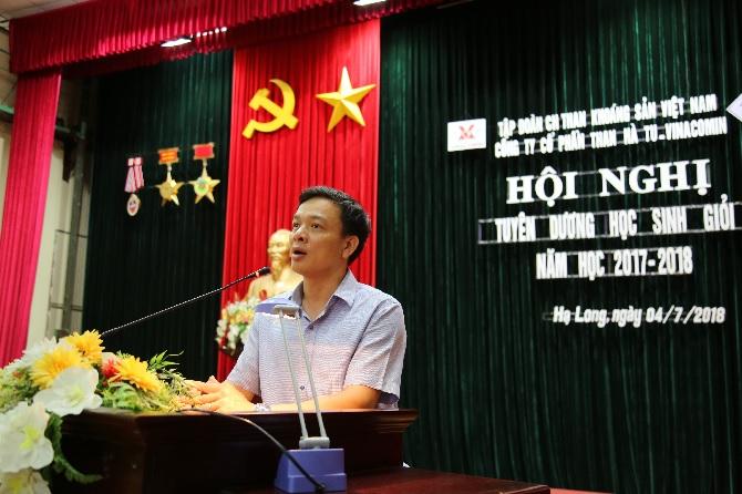 Đ/c Nguyễn Việt Thanh Bí thư Đảng ủy Công ty, Phát biểu tại buổi lễ tuyên dương