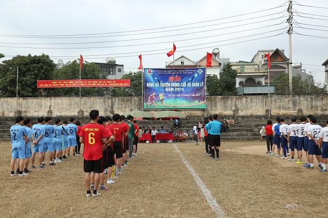 Than Hà Tu tổ chức giải bóng đá cán bộ quản lý năm 2019